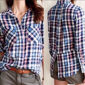 Cloth and Stone plaid button up Small